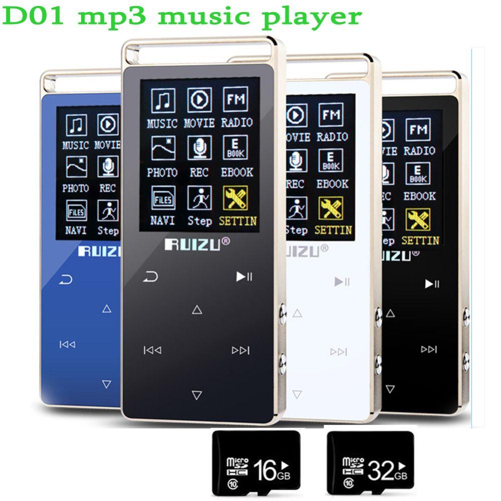 Ultrathin Original RUIZU MP4 Player 8GB Touch Screen 1.8 Inch  Voice recorder FM E-Book Clock Video USB MP4 Music Player Sound