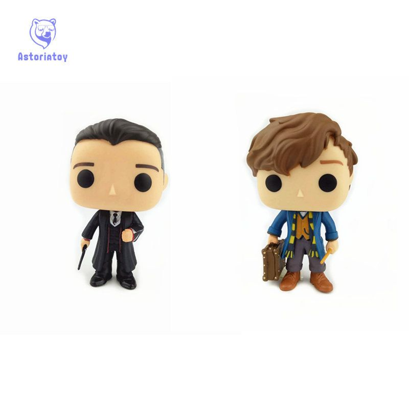 NEW 10cm Fantastic Beasts and Where to Find Them PERCIVAL GRAVES action figure Bobble Head Q Edition no box for Car Decoration