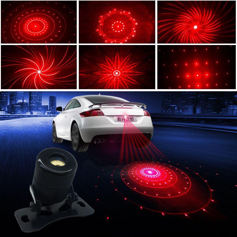 Feu Anti-collision de voiture feu de brouillard Laser arrêt de stationnement automatique indicateurs de Signal de freinage voyant d'avertissement de LED de moto lumières décoratives