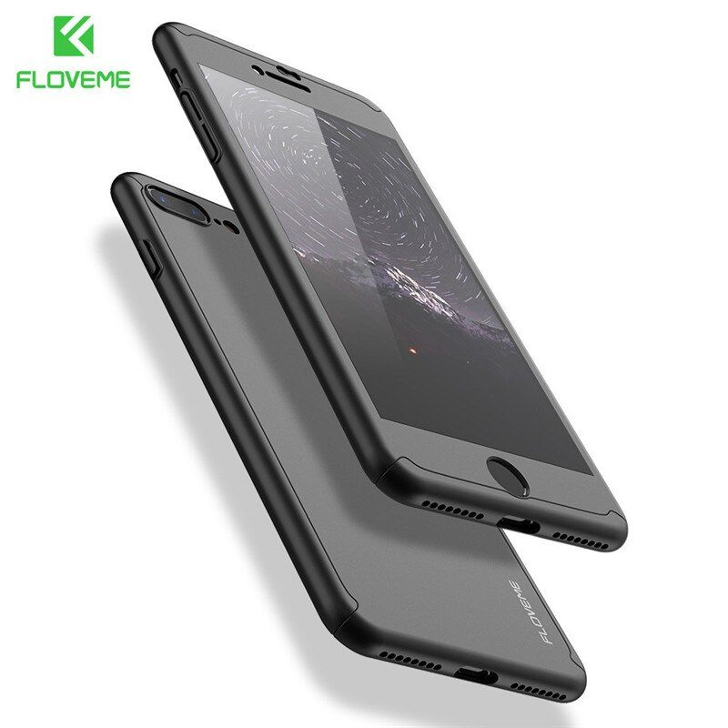 FLOVEME Mode 360 STÜCK Fall für iPhone 7 7 Plus Fall 6 6 s Plus luxus Full Coverage Kunststoffgehäuse Für iPhone 6 6 s Plus 5 5 s SE 7