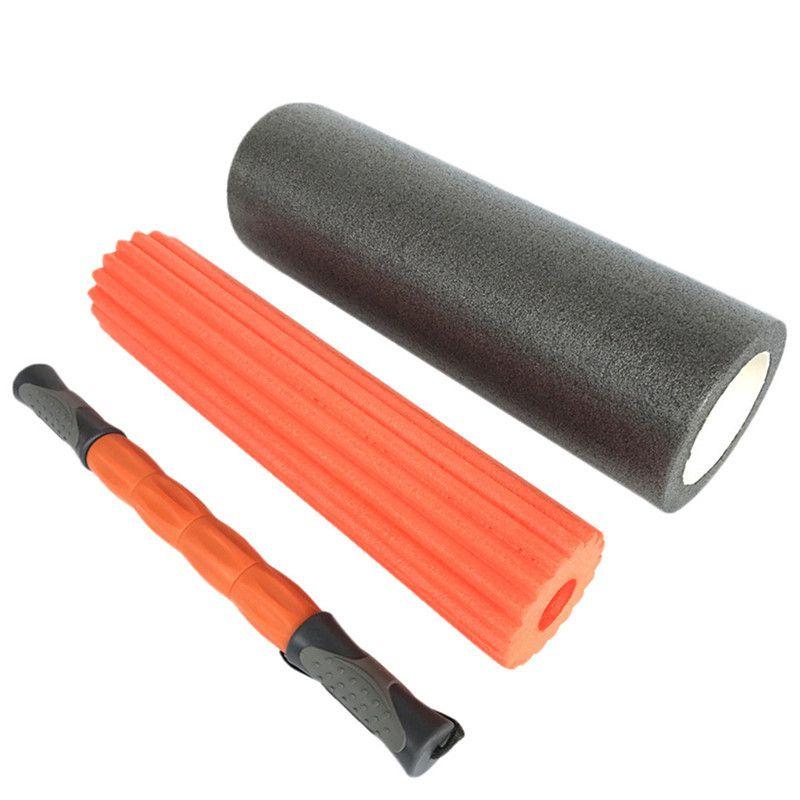 Yoga Foam Roller Set Exercise Fitness Massage Spike Yoga Column Massage Trigger Point Stick Home Gym Crossfit 46x15cm