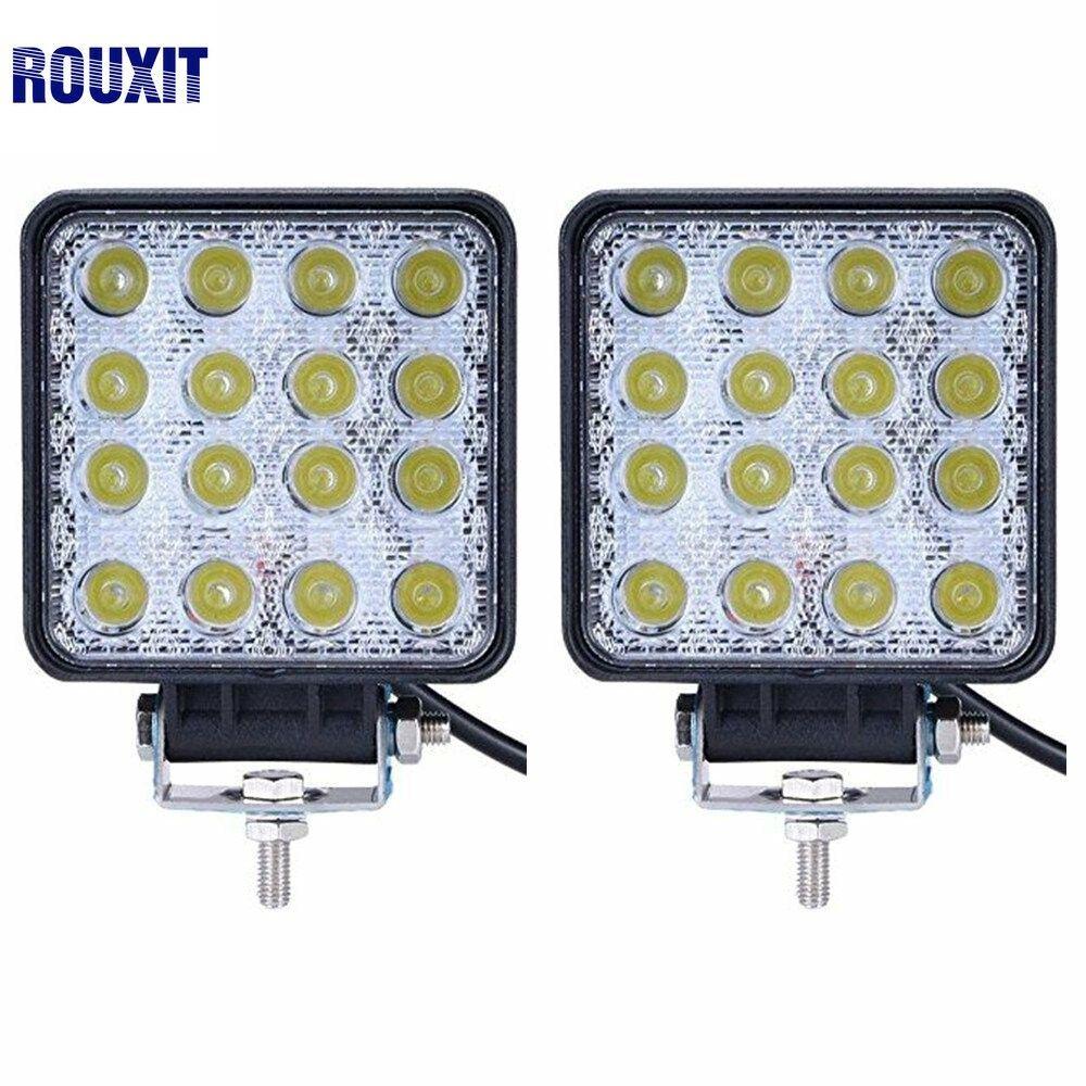 2pcs offroad 48w LED Work Light Bar 12V spot flood beam for Indicators Driving Boat Car Tractor Truck 4x4 SUV ATV Motorcycle