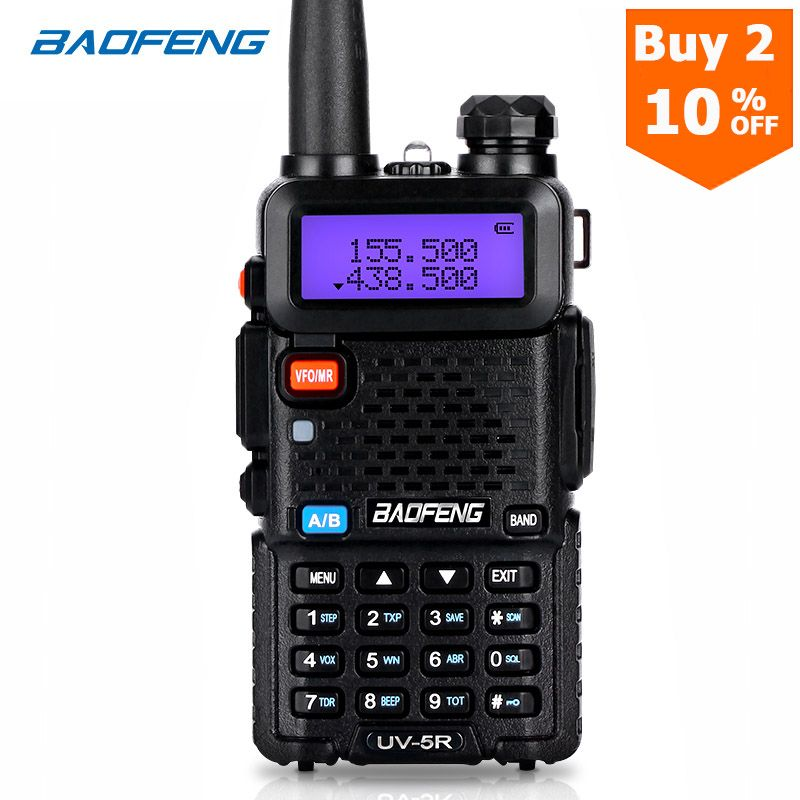 BaoFeng talkie-walkie UV-5R bidirectionnel cb radio mise à niveau version baofeng uv5r 128CH 5W VHF UHF 136-174Mhz et 400-520Mhz