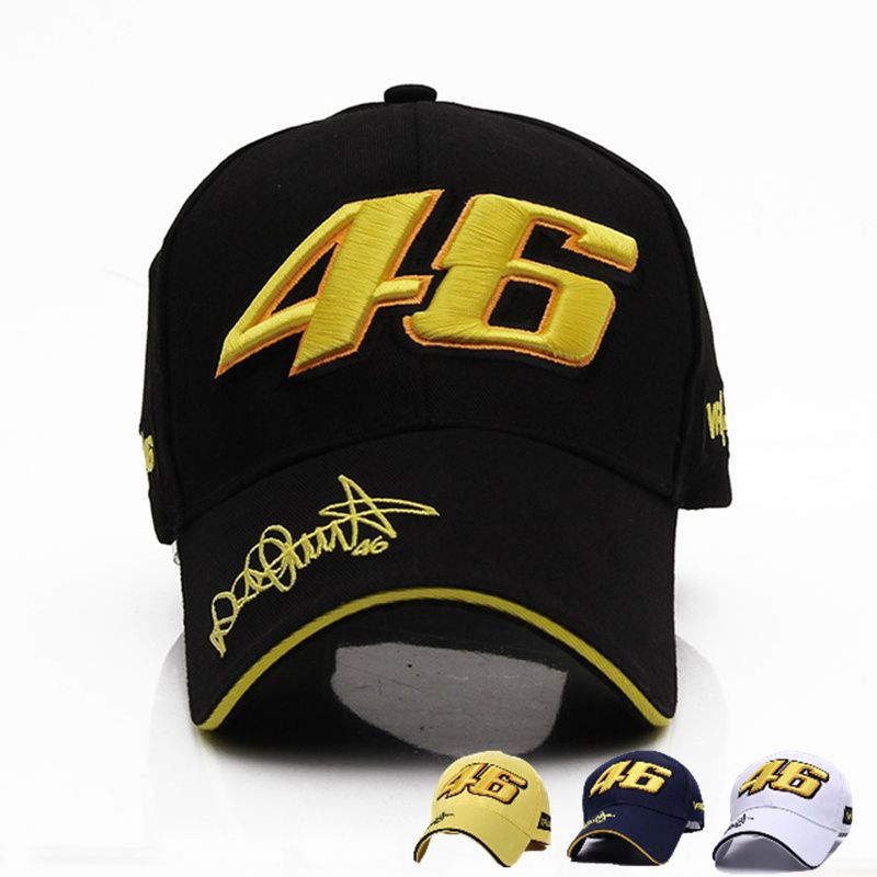 2017 New Design Racing Cap Car Motocycle Racing MOTO GP VR 46 Rossi Embroidery Sport Hiphop Cotton Trucker Baseball Cap Hat