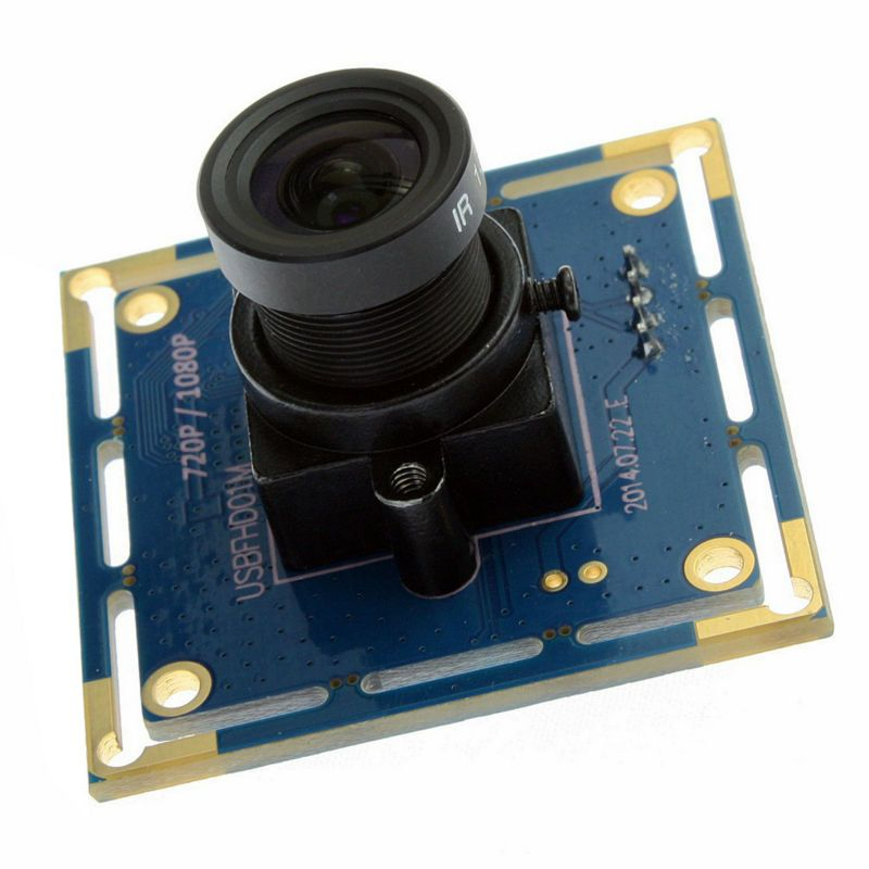 ELP CCTV 2megapixel 1080P full HD 30fps 8mm lens USB 2.0 UVC Mini USB Camera Board Black White color , free shipping