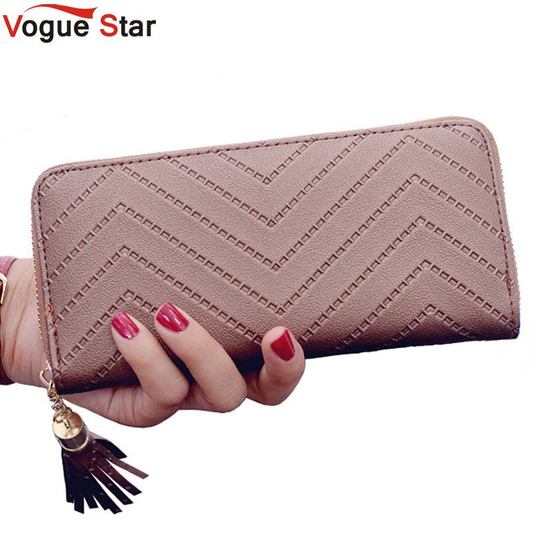 Vogue Star women wallet high quality leather dollar price tassel women purse card holder Carteira Feminina  LB231