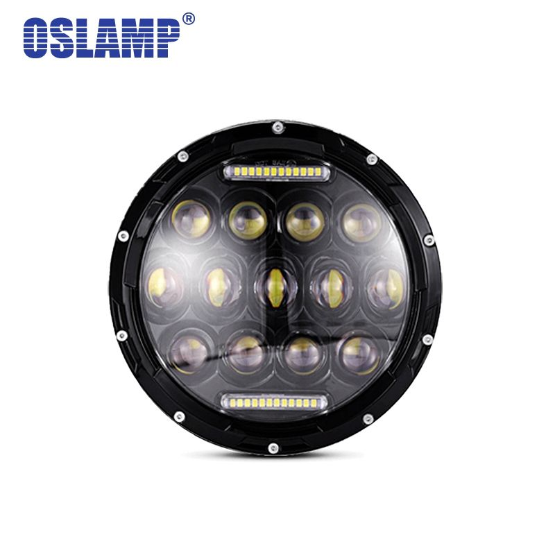 Oslam For Jeep Wrangler Led Headlight 7inch 75W Round High Low Beam Lights H4 H13 Adapter Headlamp For Off Road 4x4 Motorcycles