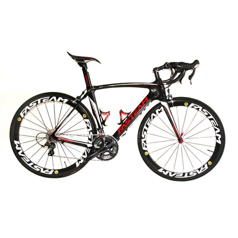 HEIßER VERKAUF 2017 Vollcarbon 700C Rennrad Carbon Komplette Fahrrad Mit Ultegra R8000 22 Fach-gruppe Und 50 MM laufradsatz