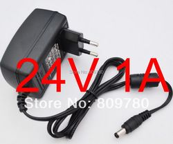 1 PCS haute qualité 24V1A AC 100 V-240 V Adaptateur Convertisseur DC 24 V 1A 1000mA Alimentation UE Plug 5.5mm x 2.1-2.5mm