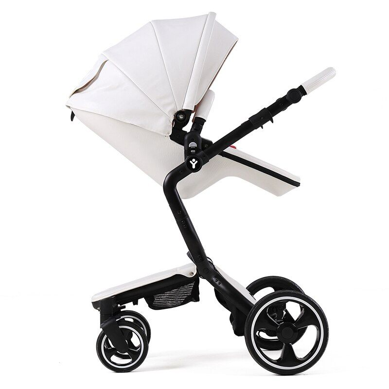 Luxus 2 in 1 Kinderwagen foofoo Hoch Ansicht Kinderwagen Europäische Klapp Kinderwagen Für Neugeborene Poussette Kinderwagen