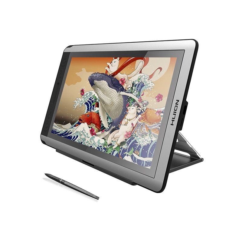 HUION KAMVAS GT-156HD V2 Drawing Tablet Monitor 15.6 inches HD IPS Graphics Pen Display Monitor with 8192 Levels and Free Gifts