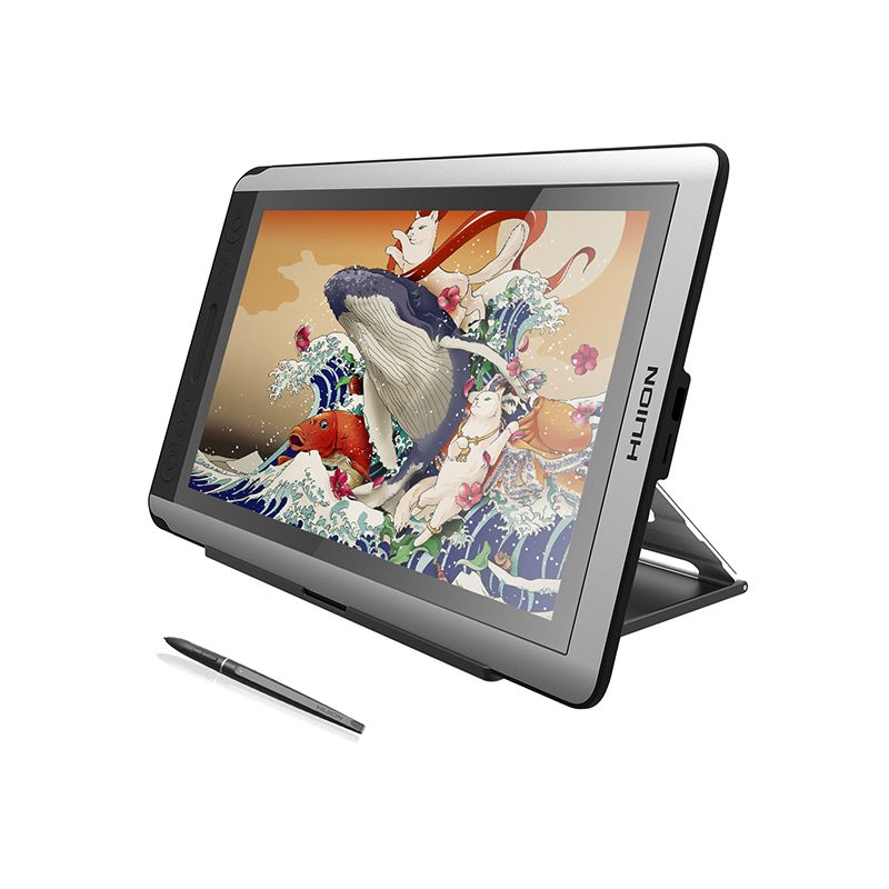HUION KAMVAS GT-156HD V2 Stifttablett-monitor Digitale Grafiken Monitor Zeichnung Monitor IPS HD LCD Monitor