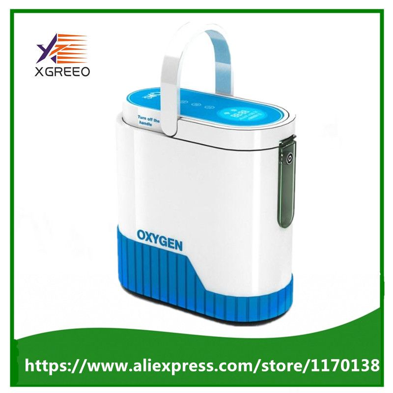 COXTOD Newest 1L with 92% Purity Portable Oxygen Concentrator with battery car inverter trolley and carry bag oxygen bar