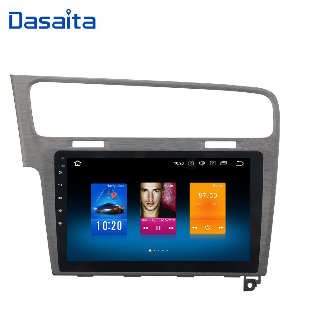 Dasaita 10,2 Android 8.0 Auto GPS Radio Player für VW Golf 7 2013 2014 2015 2016 2017 mit Octa Core 4 gb + 32 gb Stereo Multimedia
