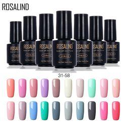 ROSALIND New Arrivals 7ML 31-58 Pure Colors Gel Nail Polish Fresh UV LED Soak-off Gel Nail Varnishes Long-lasting Gel Lak