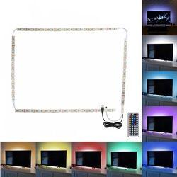 Imperméable à l'eau 4X50 cm 2x50 cm + 2x100 cm 5 V USB RGB LED Bande lumière 5050 SMD LED Bande de Fée Lumière TV Rétro-Éclairage Kit 44key à distance