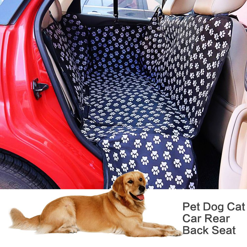 Original Pet Dog Cat Car Rear Back Seat Carrier Cover Portable Pet Dog Mat Blanket Cover Mat Hammock Cushion Protector Carrier