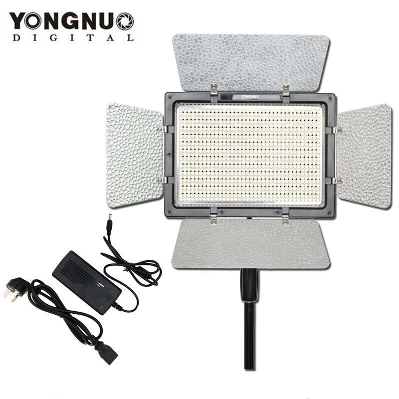 YONGNUO YN900 with AC Power Adapter,YN-900 High CRI 95 3200K-5500K LED Video Light Panel Outside Lighting
