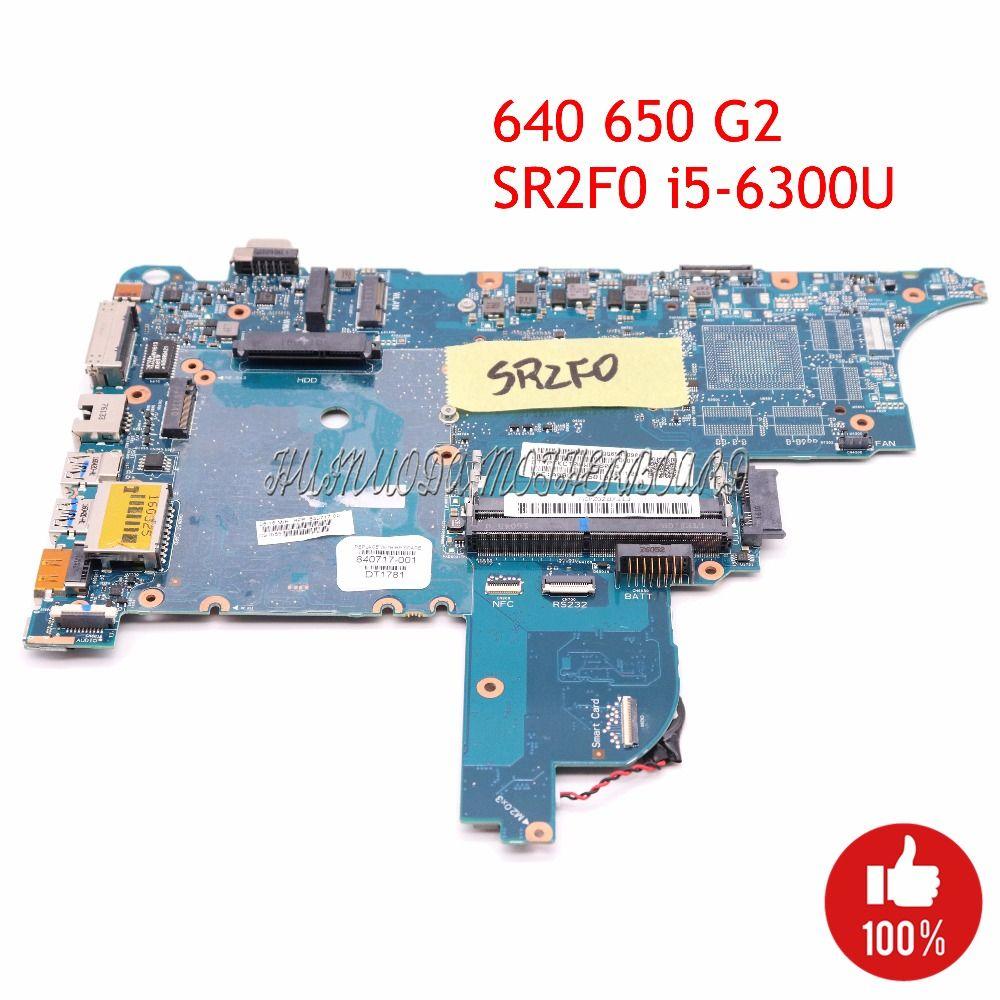 NOKOTION 840717-001 Laptop Mothebroard For HP Probook 640 650 G2 CIRCUS-6050A2723701-MB-A02 SR2F0 I5-6300U CPU UMA HD MAIN BOARD