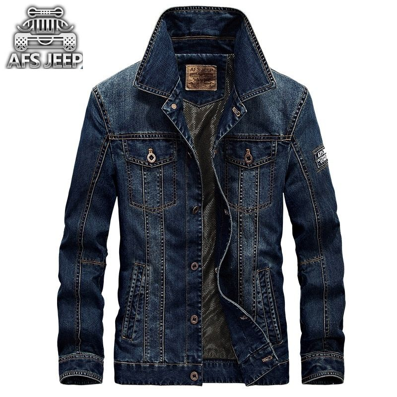 Afs Jep Fashion 2017 Men's Denim Jacket For Men Military Jeans Jacket Top Quality Brand Male Bomber Coats Jackets size 4XL