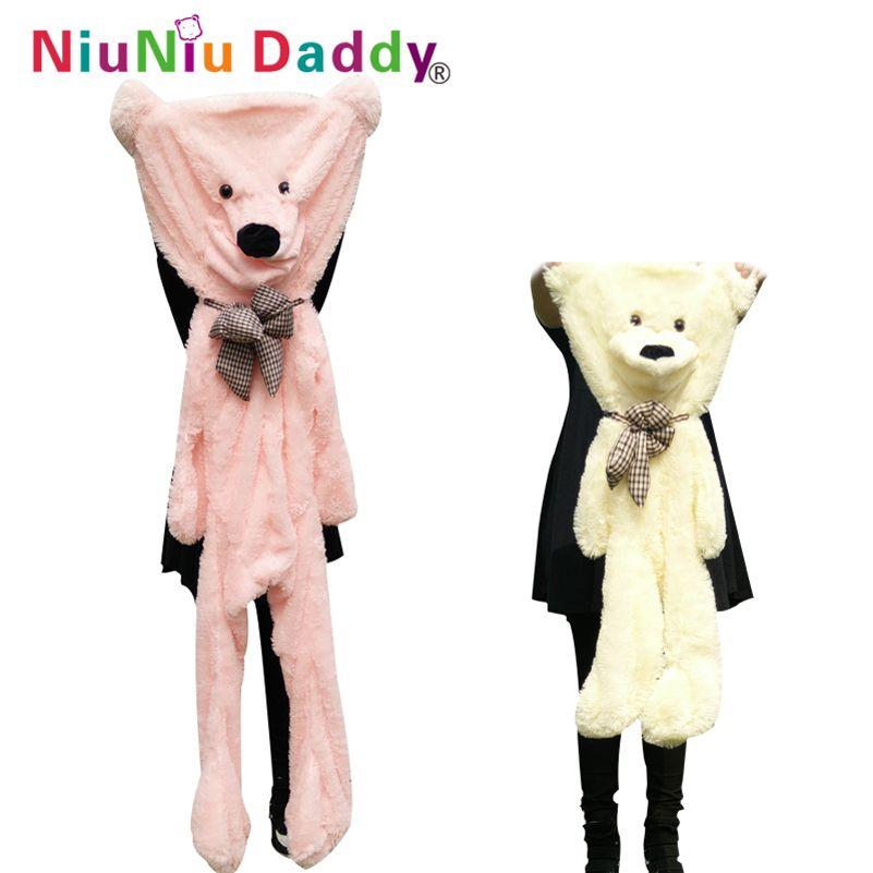 Niuniudaddy 60 cm à 200 cm géant ours peau jouet en peluche Ours en peluche bearskin en peluche tissu peluche jouet 5 couleurs livraison gratuite