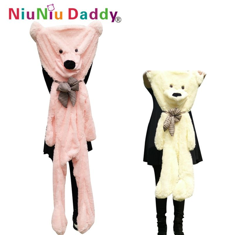 Niuniudaddy 60cm to 200cm giant bear skin toy plush Teddy Bear bearskin plush fabric plush toy 5 colors free shipping