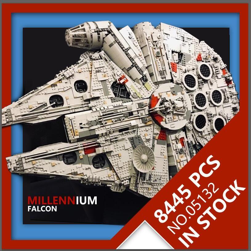 LEPIN 05132 Millennium Falcon Série Star Wars Ultimate Collector Modèle 8445 PCS Destroyer Blocs de Construction de BRICOLAGE Briques 75192
