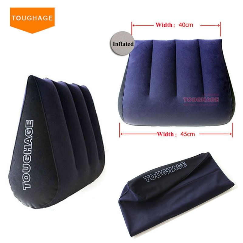 Toughage Inflatable Sex Pillow Positions Adult Sex Sofa Bed Cushion <font><b>Triangle</b></font> Wedge Pad Sofa Toys Sex furniture Hold Pillow