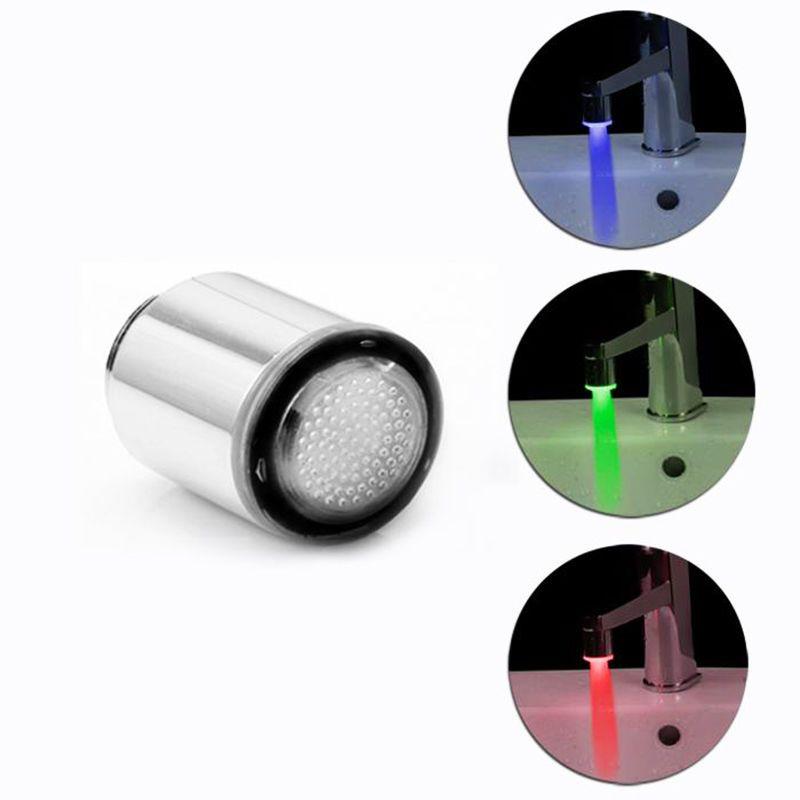 1x Термометры 3 цвета Кухня Водопроводной воды кран гамма Glow душ светодиодные Наборы для ванной