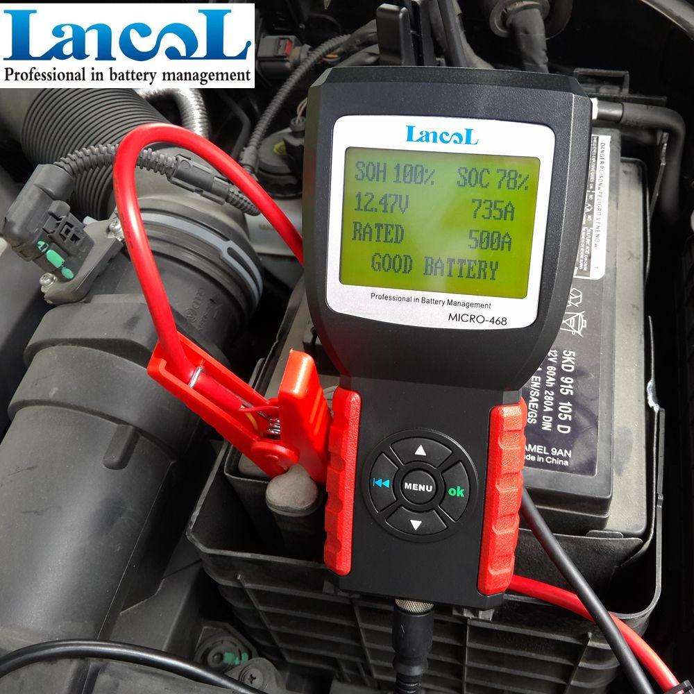 Lancol MICRO-468 Tragbare 12 V Auto Digitale CCA Batterie Messgerät Automobil Batterie Analyzer Auto Batterie Tester Werkzeug