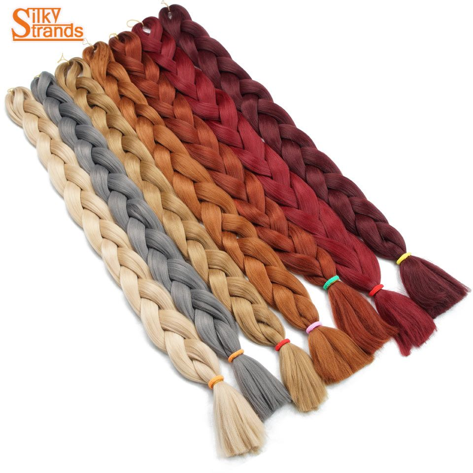 Silky Strands 82inch 165G braiding hair Extensions Synthetic Jumbo Braids Hair Colors For African American Women