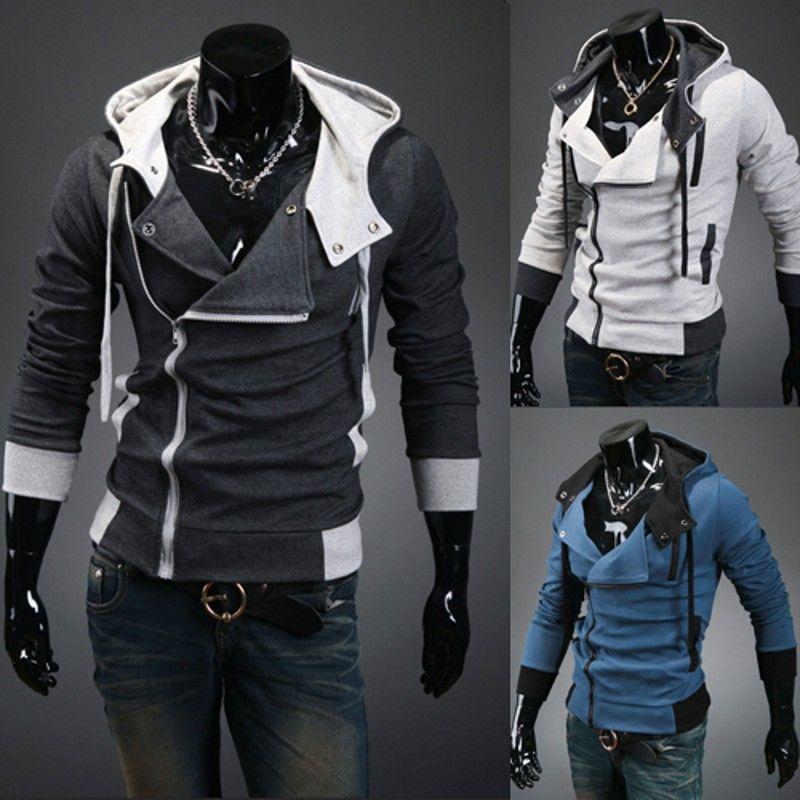 Новый 2017 Весна и Осень Моды Случайные Тонкий Кардиган Assassin Creed Толстовки Толстовка Верхняя Одежда Куртки Men, Размер M-6XL, W20