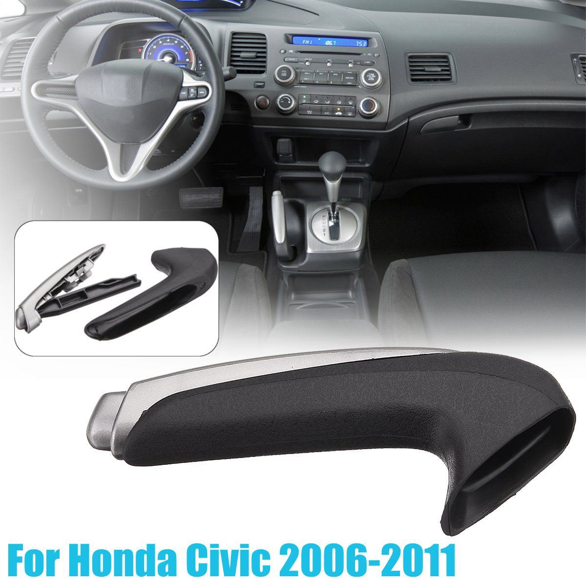 Handle Cover Emergency Car Interior Parking Hand Brake Handle Lever Grip Cover For Honda for Civic 2006-2011