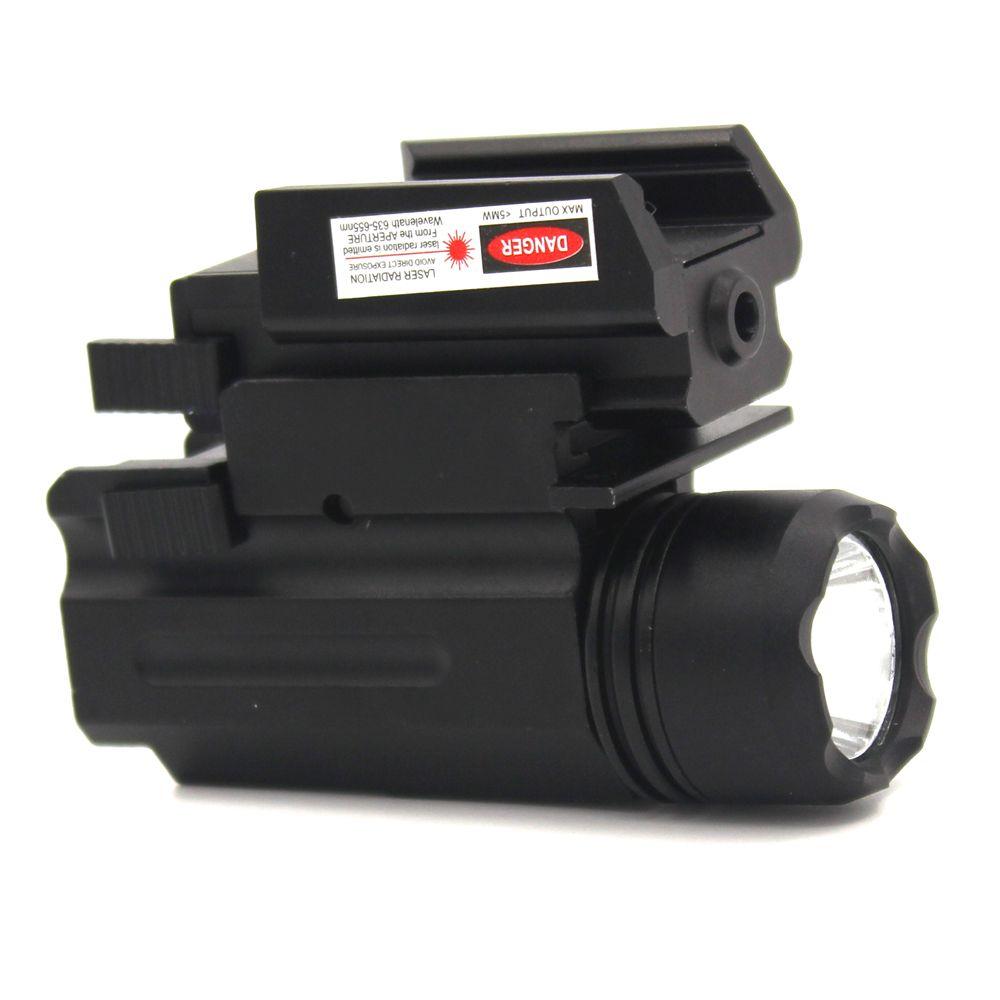 Тактические фонари с Красный лазерный прицел Глок фонарик комбо Охота лазер 21 мм Пикатинни Quick Release