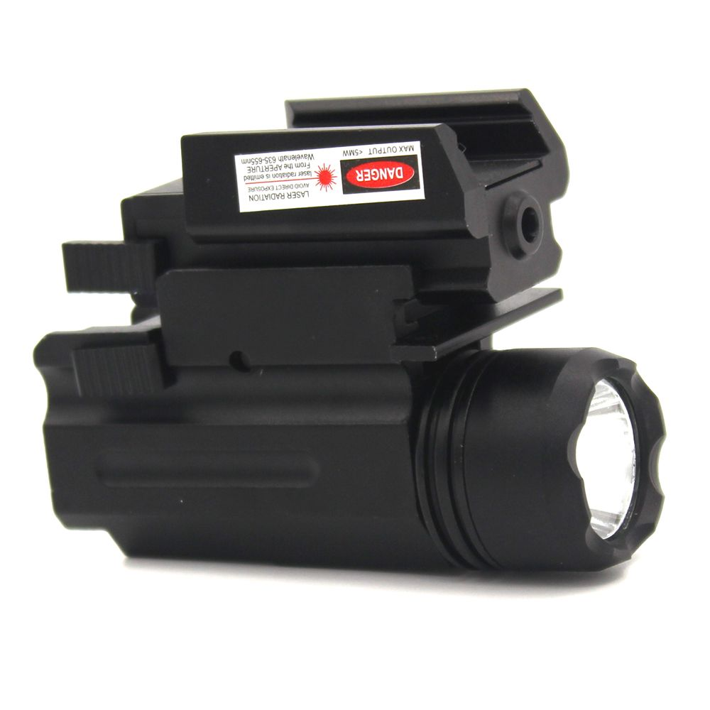 Tactical Lights with Red Laser Sight Glock Flashlight Combo Hunting Laser 21mm picatinny rail Quick Release