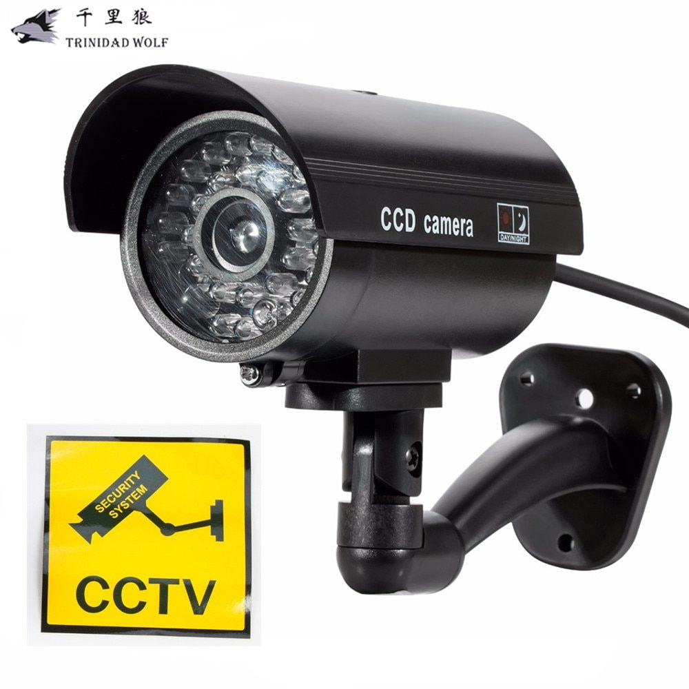 TRINIDAD WOLF Fake Dummy Camera Outdoor Waterproof Security Camera Indoor CCTV Surveillance Camera With Flashing LED light