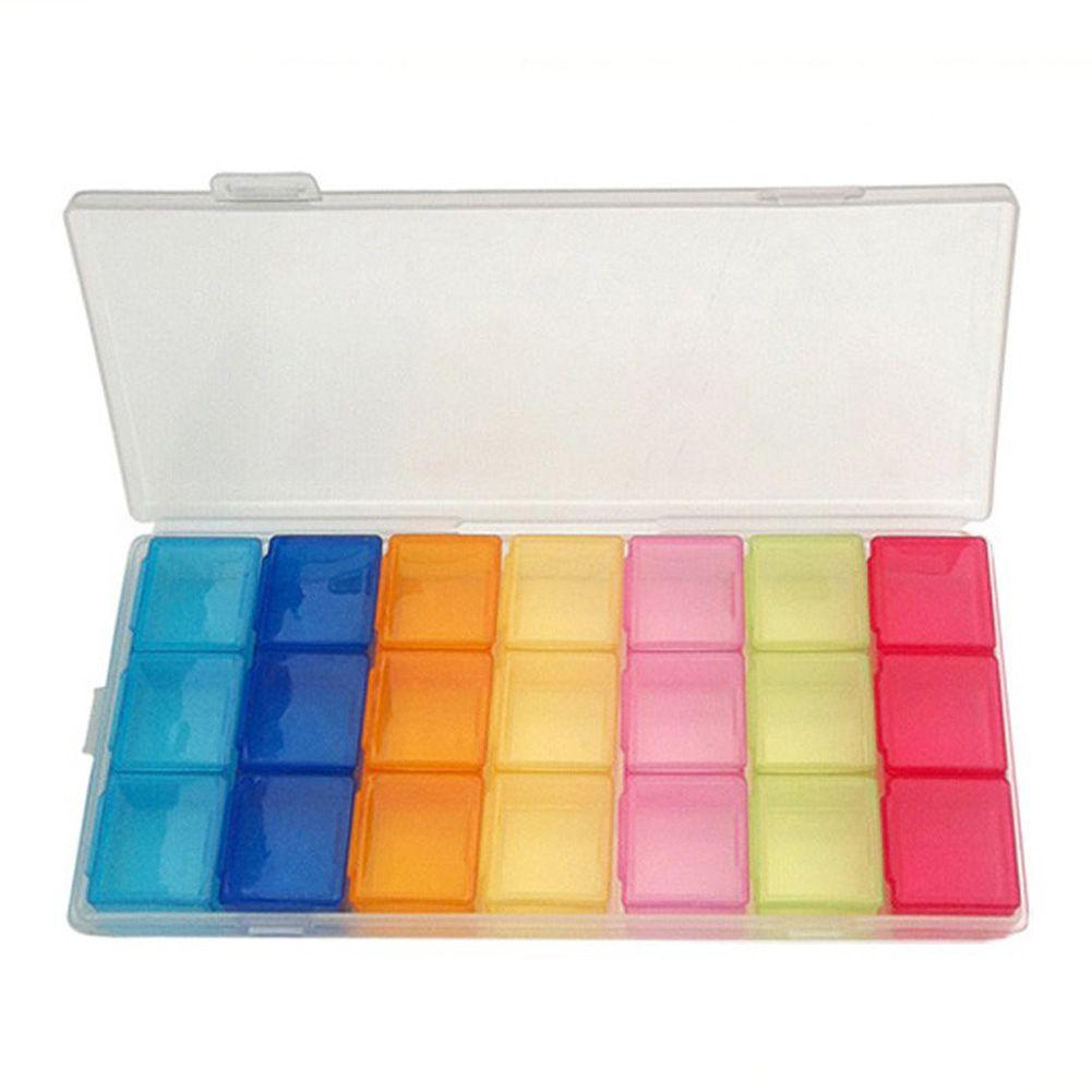 7 Jours Pilule Médecine Tablet pilulier Distributeur Organisateur Cas Semaine Cas De Stockage De Support Pour Médicaments Médecine Pilule Cas