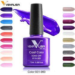 #61508 Заводские поставки для ногтей Новый Venalisa Nail Art Дизайн 60 Цвет личная гигиена Краски лак для ногтей УФ-лак для ногтей гель