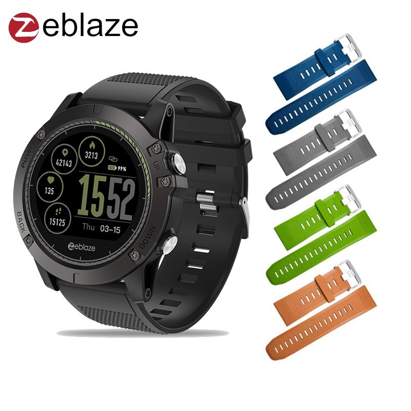 In stock Upgraded Zeblaze VIBE 3 HR 3D IPS Color Display Smartwatch IP67 Waterproof Heart Rate Monitor Sport Smart Watch