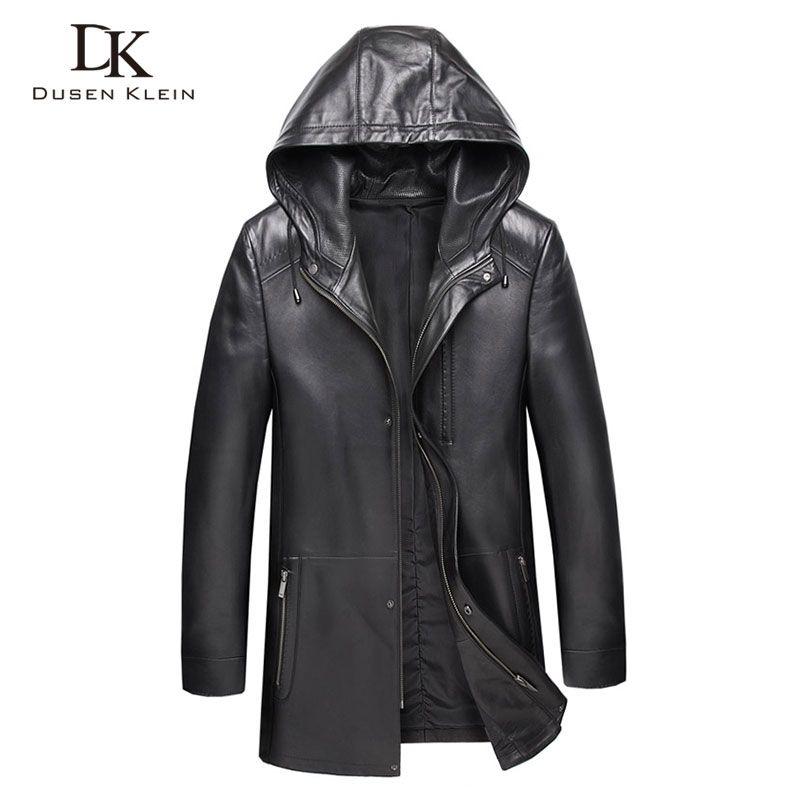 Männer Echtes Leder Jacke Mit Kapuze Leder Jacken 8XL Große Größe Casual Echt Schaffell Jacke 9028