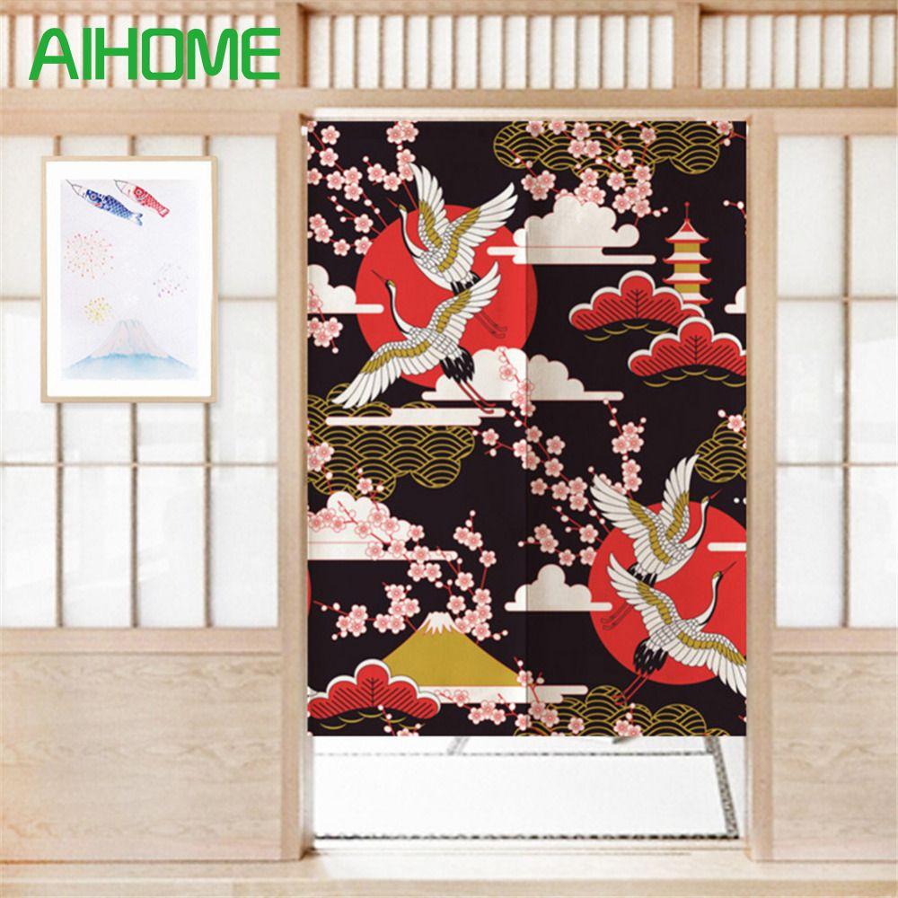 Innovative Japanischen Noren Bildschirm Landschaft Leinwand Landschaftsmalerei Vorhang Tür Schlafzimmer Tür Vorhänge mit Verstellbaren Stab