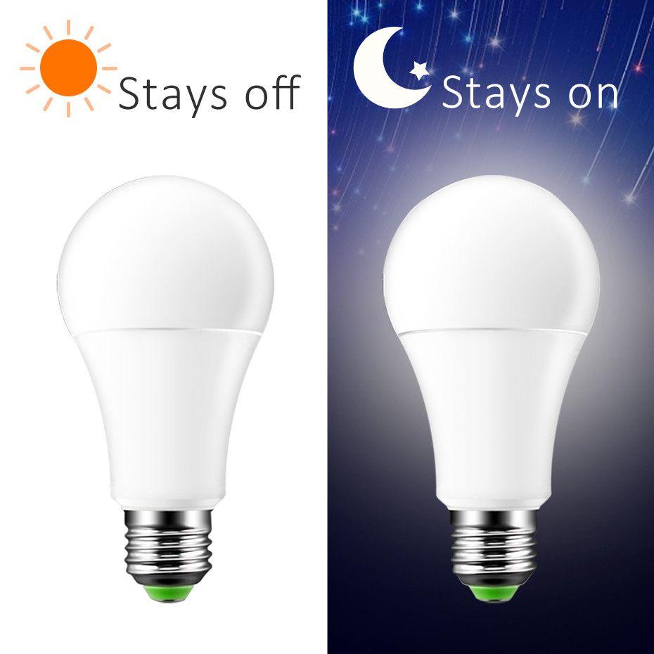2018 neueste Sensor Glühbirne Morgens bis Abends LED Smart Beleuchtung Lampen 7 watt 12 watt E27 B22 2000 karat automatische Auf/Off Hof Garage Garten
