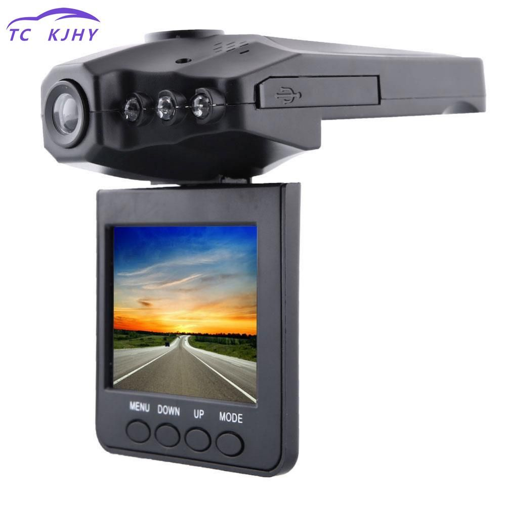 2.5 Inch Lcd Screen 6 Ir Led Night Vision Hd Dash Cam Car Dvr 270 Degrees Rotatable Camera Recorder Rearview Mirror Camera