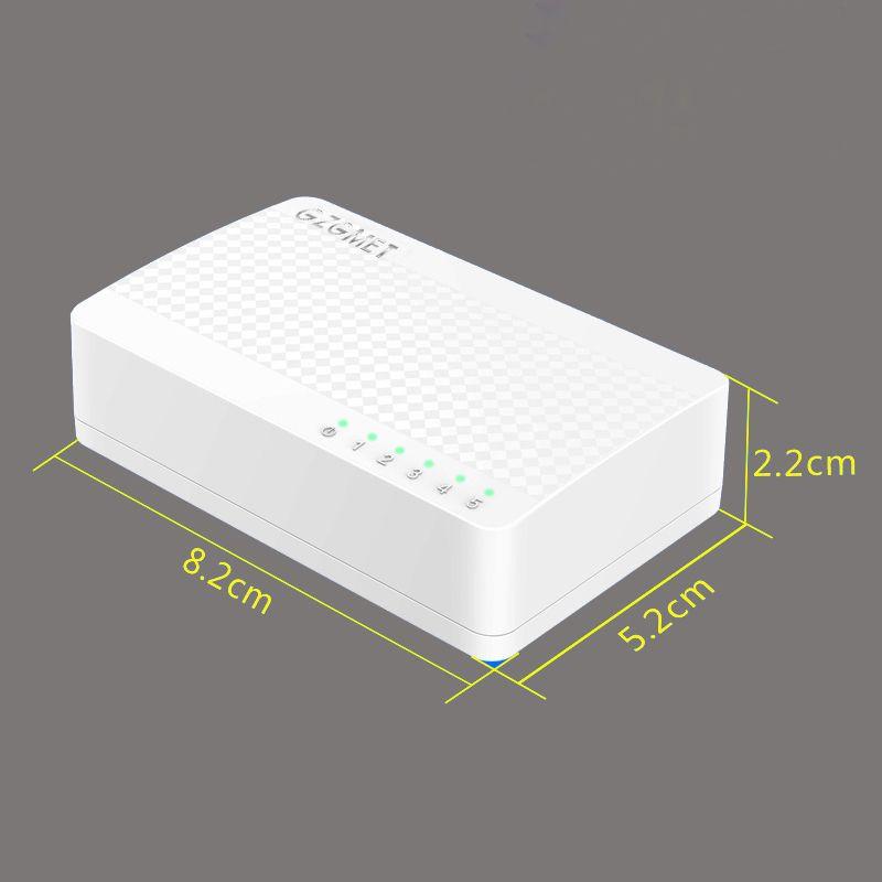 Blanc Cas mini commutateur ethernet 4 port réseau de bureau SOHO RJ45 LAN HUB Petit interrupteur pour La Maison 100