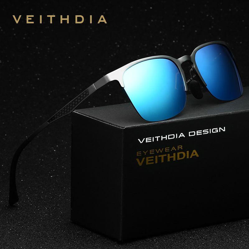 VEITHDIA Unisex Retro Aluminum Magnesium Brand Sunglasses Polarized Lens Vintage Eyewear Accessories Sun Glasses <font><b>Men</b></font>/Women 6631