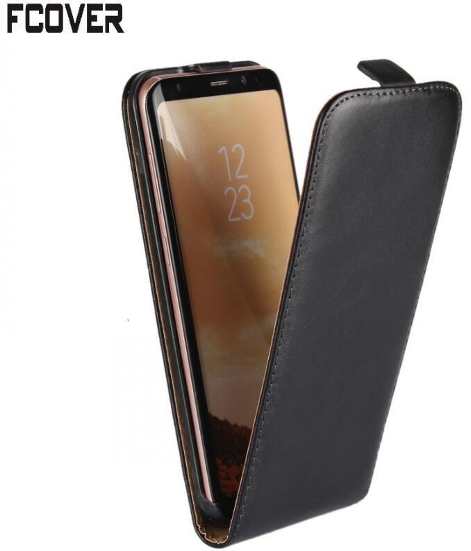 Pour Samsung S8 Flip cas, véritable Housse En Cuir Flip Couverture Pour Samsung Galaxy S8 Plus