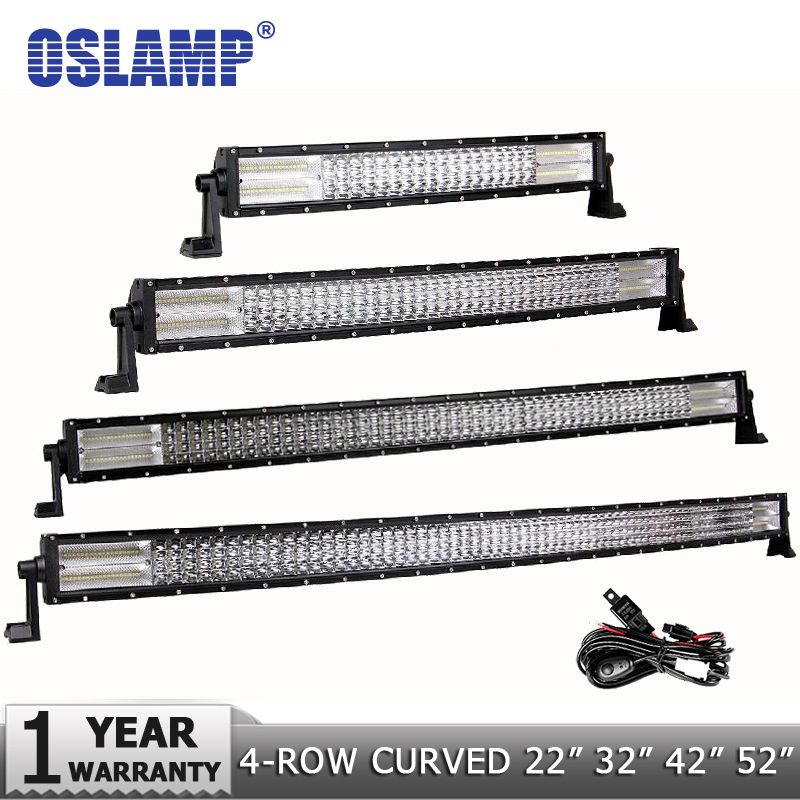 Oslamp 4-Reihe 22 432 W 32 612 W 42 792 W 52 972 W curved LED Light Bar Offroad Led Bar Spot & Flut Strahl Led Arbeit Licht Quad Reihe