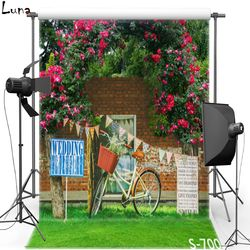 MEHOFOTO New Fabric Polyester Photography Background Backdrop For Wedding Scenic Bike Vinyl Background For Kids Photo Studio 700