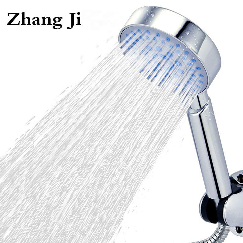 Hohe Qualität Fünf Fuction Silica Gel Löcher Dusche Kopf Wasser Sparen Mit Chrom Dusche kopf Regen Runde Handheld Dusche ZJ006
