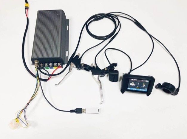 TFT display 48V-72v 80A 5000w electric bike controller sine wave system bluetooth setting sabovton controller